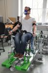 Mechatronic simulator of lever wheelchairs